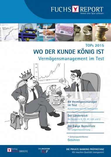 Cover TOPs 2015 - Vermögensmanagement im Test