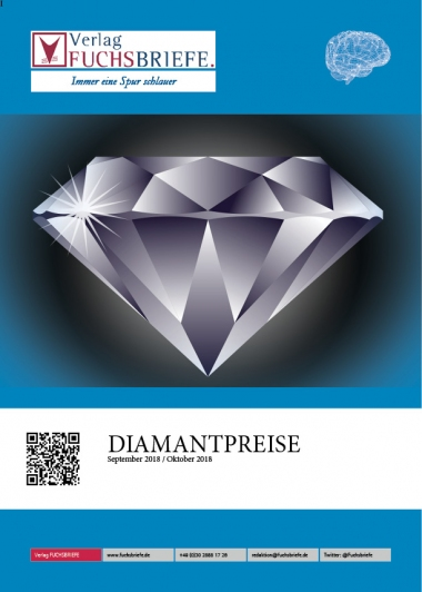 Cover Diamantenpreisliste September / Oktober 2018