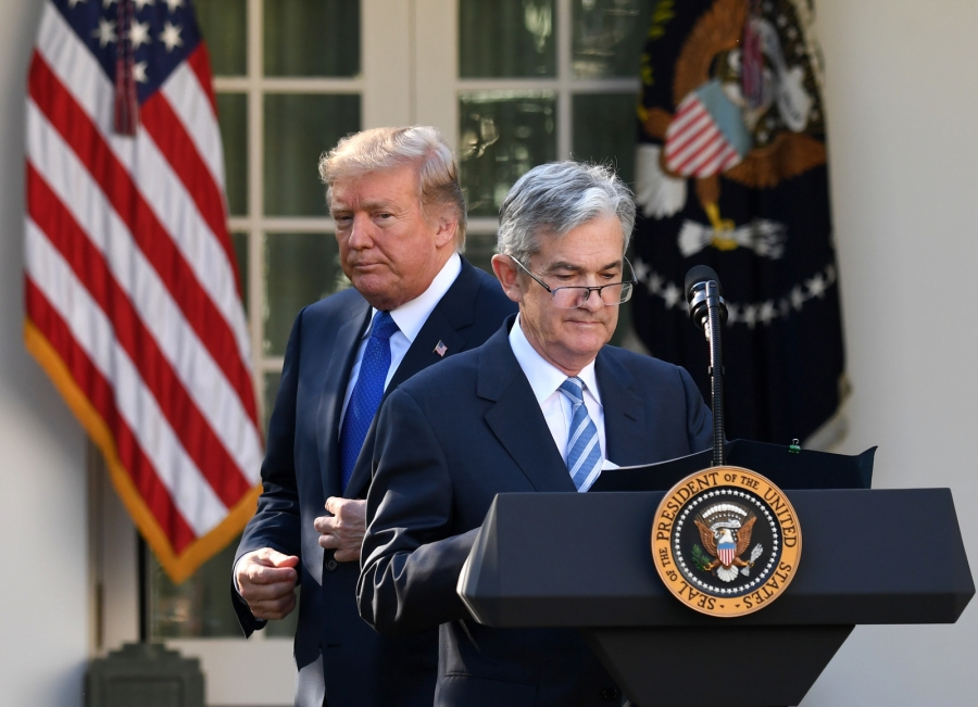 Donald Trump und Jerome Powell
