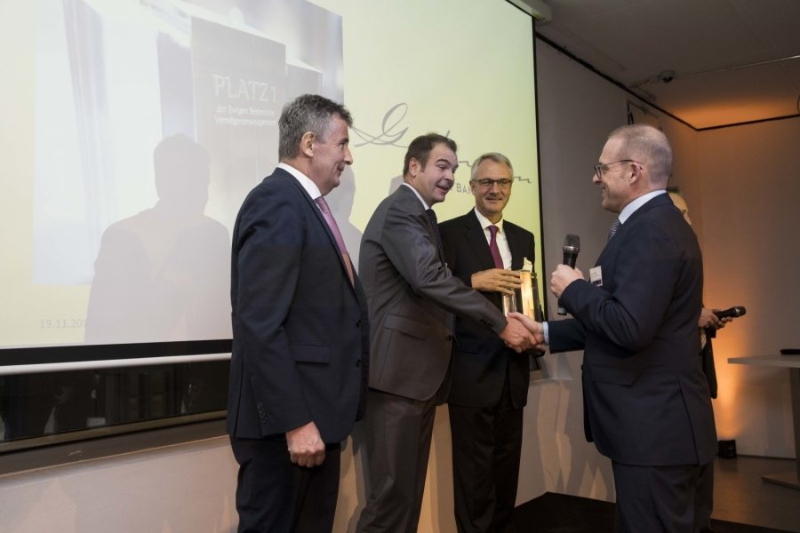 Überreichung Private Banking Award TOPS 2019
