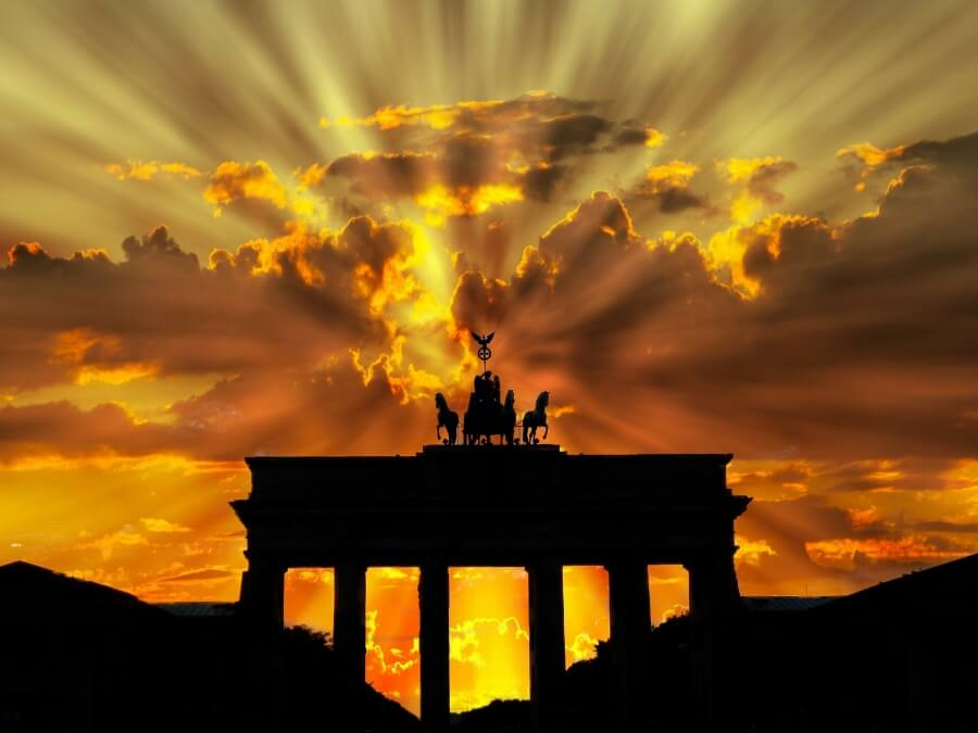 Brandenburger Tor Berlin Deutschland Gold