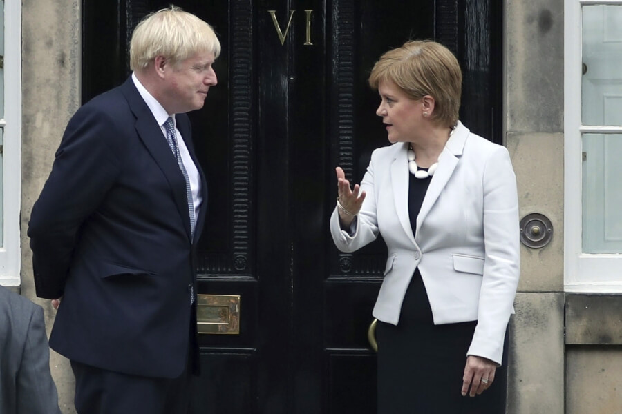 Boris Johnson und Nicola Sturgeon