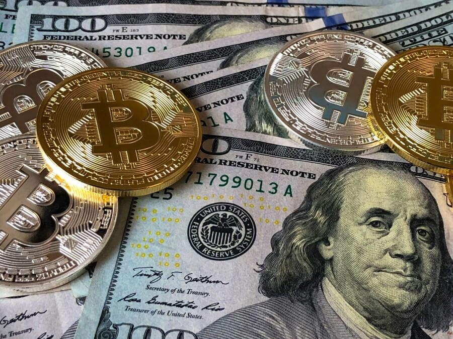 Bitcoins und US-Dollar