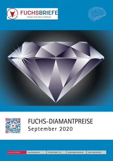 Cover Diamantenpreisliste September 2020